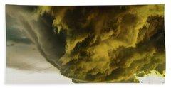 Nebraska Supercell, Arcus, Shelf Cloud, Remastered 018 Bath Towel