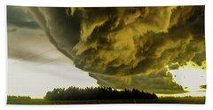 Nebraska Supercell, Arcus, Shelf Cloud, Remastered 018 Hand Towel