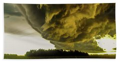Nebraska Supercell, Arcus, Shelf Cloud, Remastered 018 Bath Towel