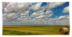 Nebraska Wheat Fields Bath Towel