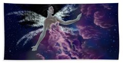 Hand Towel featuring the painting Nebula by Amyla Silverflame