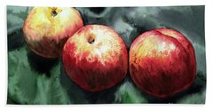 Bath Towel featuring the painting Nectarines by Joey Agbayani
