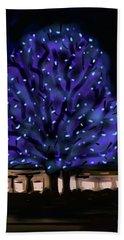 Needham's Blue Tree Hand Towel