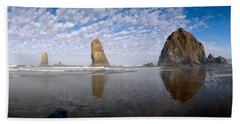 Needles And Haystack Rock Formations Hand Towel