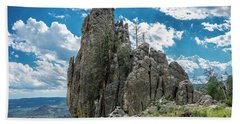 Needles Highway Rock Formation Bath Towel