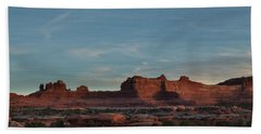 Needles Sunset Hand Towel by Alan Vance Ley