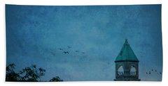 Bath Towel featuring the photograph Neenah Clocktower by Joel Witmeyer