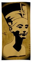 Nefertiti Egyptian Queen Bath Towel by Georgeta  Blanaru