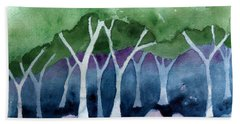 Negative Thinking Makes A Woodland Scene Hand Towel
