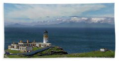 Neist Point Lighthouse Hand Towel by Anthony Dezenzio