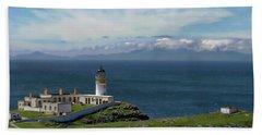 Neist Point Lighthouse Bath Towel by Anthony Dezenzio
