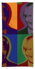 Nelson Mandela Pop Art Bath Towel