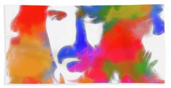 Neon Frank Zappa Hand Towel