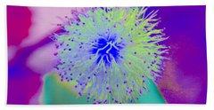 Neon Green Puff Explosion Hand Towel