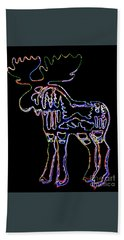 Neon Moose Bath Towel
