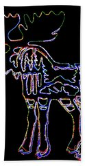 Neon Moose Hand Towel