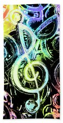 Neon Notes Hand Towel