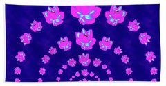 Neon Pink Lotus Arch Hand Towel