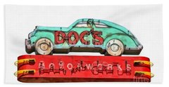 Neon Sign Series Docs Austin Texas Bath Towel