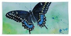 Neon Swallowtail Hand Towel