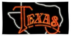 Bath Towel featuring the digital art Neon Texas by Daniel Hagerman