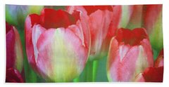 Neon Tulips Bath Towel