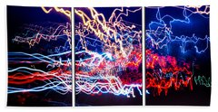Neon Ufa Triptych Number 1 Hand Towel by John Williams