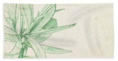 Nerium Oleander Hand Towel