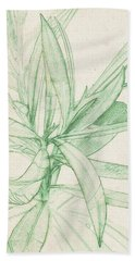 Nerium Oleander Bath Towel