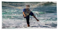 Bath Towel featuring the photograph Net Fishing by Roger Mullenhour