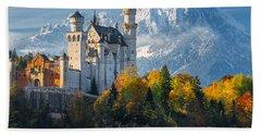 Neuschwanstein Castle In Bavaria Hand Towel