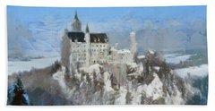 Neuschwanstein Castle Hand Towel by Sergey Lukashin