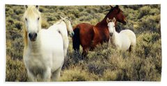 Nevada Wild Horses Bath Towel by Marty Koch