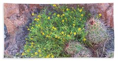 Hand Towel featuring the photograph Nevada Yellow Wildflower by Linda Phelps