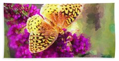 Never Hide Your Wings Bath Towel by Tina LeCour