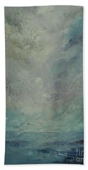 Bath Towel featuring the painting Never-never Land by Jane See