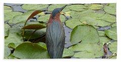 Nevis Bird Observes Hand Towel by Margaret Brooks