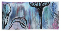Bath Towel featuring the painting New Beginnings by Angela Armano