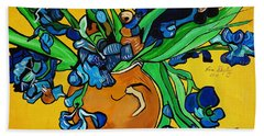 New Blue By You Hand Towel by Nora Shepley