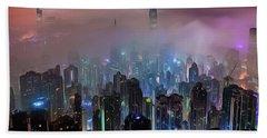 New City Skyline Hand Towel