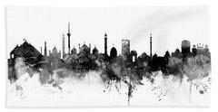 New Delhi India Skyline Panoramic Hand Towel