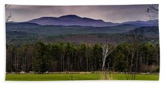 Hand Towel featuring the photograph New England Spring In Oil by Mark Myhaver