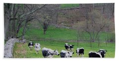 Hand Towel featuring the photograph New England Spring Pasture Square by Bill Wakeley