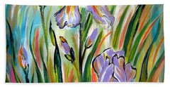 New Irises Hand Towel