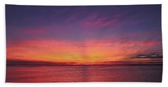 New Jersey Shore Sunset Hand Towel