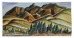 New Mexico Back Country Bath Towel by Terry Banderas