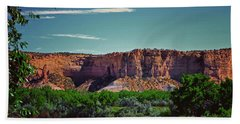 New Mexico Mountains 004 Bath Towel by George Bostian