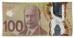 New One Hundred Canadian Dollar Bill Hand Towel