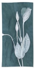 Bath Towel featuring the photograph New Openings In Teal by Leda Robertson