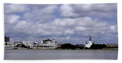 Bath Towel featuring the photograph New Orleans From Algiers Point - In Color by Chris Coffee